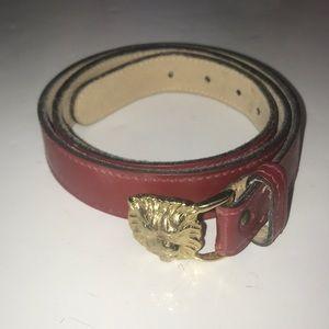 Women's Anne  Klein belt size large lion pendant